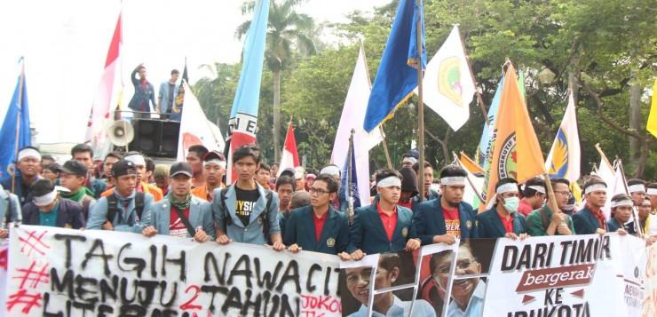 BEM-SI Tuntut Kabinet Kerja 2 Tahun Jokowi-JK