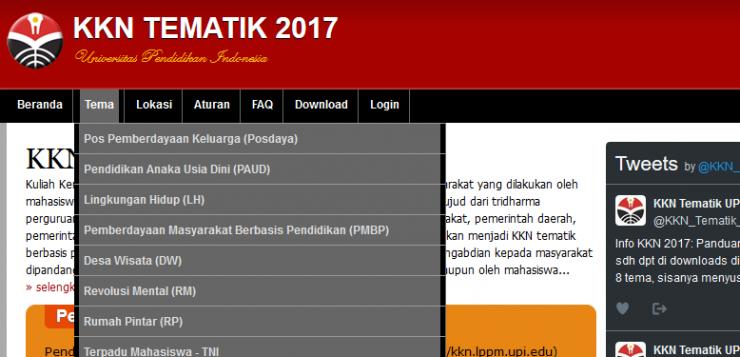 Mengenal Tema Baru KKN Tematik UPI 2017